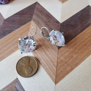 Large clip in faux diamonds with silver backing